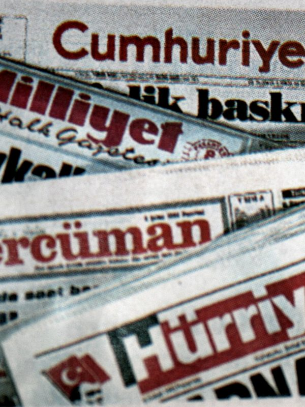 Front pages of various Turkish newspapers (Hurriyet, Tercuman, Milliyet, Cumhuriyet)