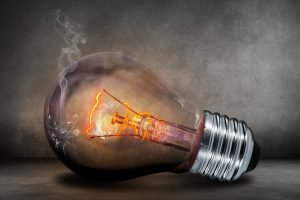Broken lightbulb