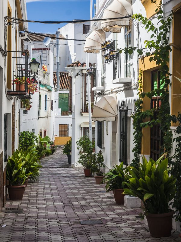 A narrow street in Marbella's old town
