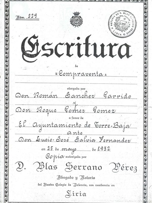 Escritura Publica (Formal contract of sale)