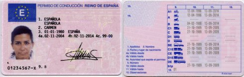 spanish driving licence